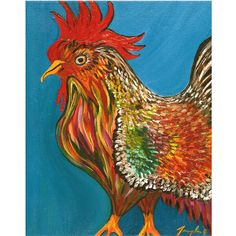Proud Rooster - Tammy Ortegon - https://www.squareup.com/store/colorwheel-gallery