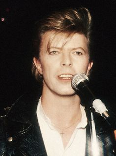 David Bowie live in New York City on March 18, 1987.