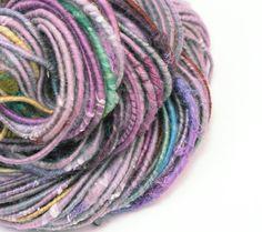 Multi Texture Yarn Handspun Yarn Art Yarn by TheSavvyStitch