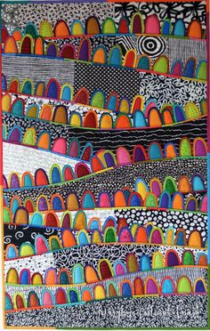 """Maryline Collioud-Robert, """"A Happy Place"""", contemporary, quilt"""