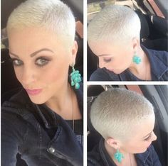 Very Short Blond Haarschnitt