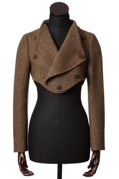 Moss Fine Herringbone Tweed Lola Jacket - Tweed Jackets - Clothing - Women Walker Slater Tweed Specialists