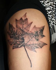 Canadian Thigh Tattoo Informations About Canadian Thigh Tattoo Pin You can eas. Ink Tattoo, Body Art Tattoos, New Tattoos, Tattoos For Guys, Cool Tattoos, Tattoo Thigh, Tatoos, Natur Tattoo Arm, Natur Tattoos