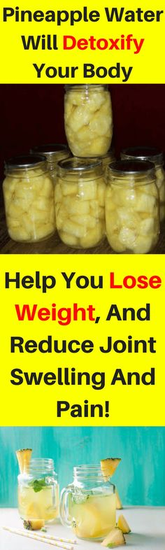 Arthritis Remedies Hands Natural Cures - This Pineapple Water Will Detoxify Your Body, Help You Lose Weight, And Reduce Joint Swelling And Pain! Detox Drinks, Healthy Drinks, Get Healthy, Healthy Tips, Healthy Food, Healthy Recipes, Detox Recipes, Healthy Choices, Natural Cures