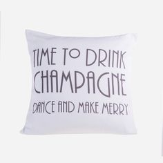 Set a merry tone in your bedroom with this printed cushion cover fashioned from soft cotton with a typographic design that will add character to your most tranquil space. Please note cushion inner not included. Decorative Accessories, Burlap, Champagne, House Ideas, Cushions, Throw Pillows, Words, Sweet, Cover