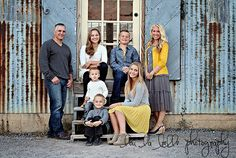 family photos, large family, family of 7, urban family pics, Utah photography, lou la belle photography