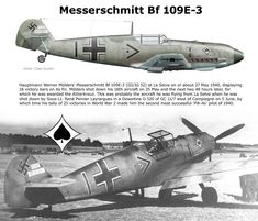 Bf 109E-3 Luftwaffe, Ww2 Aircraft, Fighter Aircraft, Military Jets, Military Aircraft, Air Fighter, Fighter Jets, Aircraft Painting, Ww2 Planes