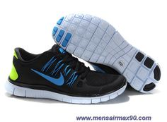 Black Blue 579959-003 Nike Free 5.0 Mens Sale