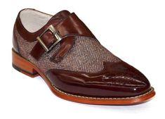 e1f958da665a1a Maroon Color Real Leather Monk Single Buckle Strap Wing Tip Tweed Shoes for  Men. Männer KleidenElegante SchuheMännerschuheSchuhe ...
