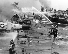 USS Forrestal explosion, July 29th 1967