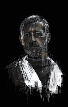 Star Wars Portraits on Behance #ObiWan