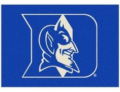 NCAA Duke University 7-Foot 8-Inch x 10-Foot 9-Inch Large Spirit Rug