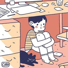 hiding from my responsibilities #smallthingscomic #smallthings #comic #cartoon #dailycomic #diarycomic #journalcomic #daily #diary #journal #illustration #art #drawing #digitalart #digitalillustration #artistsofinstagram #lifestyle #sliceoflife #mylife #me #personal #studio #apartment #work #adult #cat