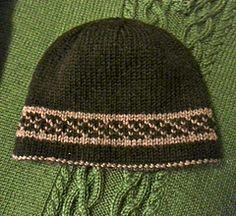 Double knit men's hat - $4
