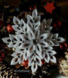 Christmas kanzashi snowflake