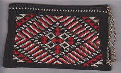 Purse I made for Mum 1986 - macrame and silko. Maori Designs, Cloaks, Leather Working, Creative Inspiration, Cross Stitch Patterns, Macrame, Weaving, Purse, Culture