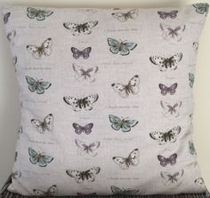 Butterfly print cushion available to buy on Little Pea Handmade.