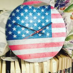 coordinate or make a statement with a fabric clock #ticktock #stripeinteriors