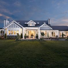 Farmhouse style, country modern home, building a shed, dream house plans, l Style At Home, Traditional Home Exteriors, Traditional House, Hamptons Style Homes, The Hamptons, Weatherboard House, Queenslander, Plywood Furniture, Australian Homes