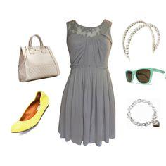 Pretty gray dress.