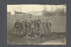 ID#0379 Date: Unknown. Football team assembled behind 23 E. College. Participant: H. Scott Broadwell.