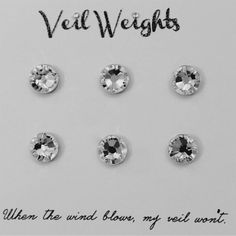 Swarovski Crystal Magnetic Veil Weights. Perfect for outdoor weddings!