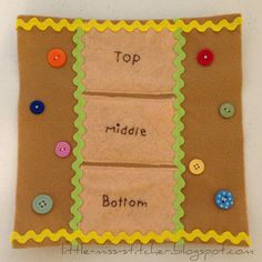 Build a Monster quiet book page