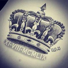Imagini pentru sketch de coronas para tatuajes