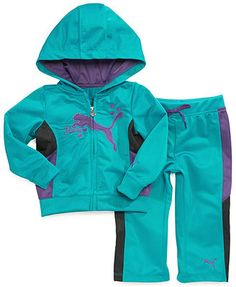 Puma Baby Set, Baby Girls 2-Piece Color-Blocked Jacket and Pants