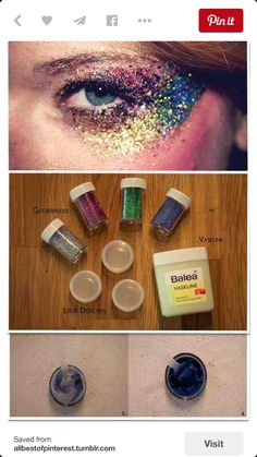 how to make glitter lotion