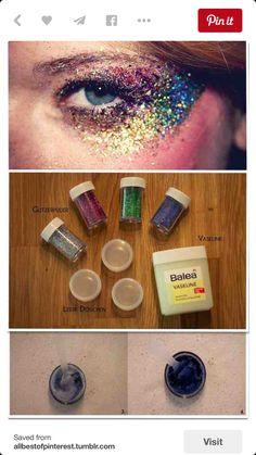 So much glitter falling into my eyeballs. So. Much.