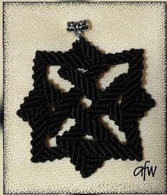 Celtic knot macrame pendant