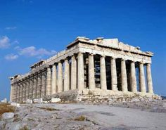 The Parthenon embodies the principles that raised Greek architecture to perfection -- harmony, proportion, elegance, grace.