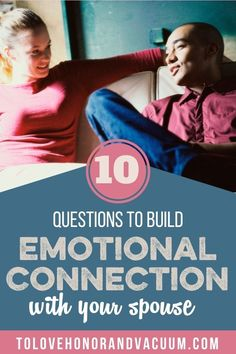 Do you long for deeper emotional connection with your spouse? But how do you build emotional connection? Is it just that you talk a lot? Well, no. #happymarriage #healthymarriage #connectinginmarriage #emotionalconnection #biblicalmarriage #lovingmarriage #tolovehonorandvaccum Intimacy In Marriage, Biblical Marriage, Happy Marriage, Love And Marriage, Relationships, Questions To Ask, This Or That Questions, Conversation Starters For Couples
