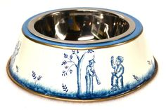 Chinoiserie Blue Dog Bowl