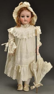 "1896 Antique 30"" CM Bergmann Simon  Halbig 13 ½ German Bisque Child Doll"