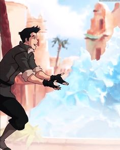 Mako and Korra | Makorra | Book 3: Change | The legend of Korra | Avatar | (gif)
