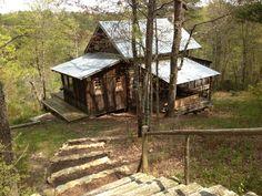 Restoring old Tobacco Barn  Mentone Alabama Little River Canyon