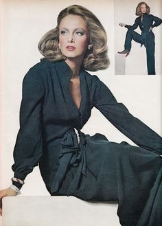 Karen Graham in Oscar de la Renta, photo by Irving Penn, 1974