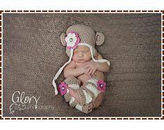 Crochet Monkey Hat and Leg Warmer Patterns by EmieGraceCreations