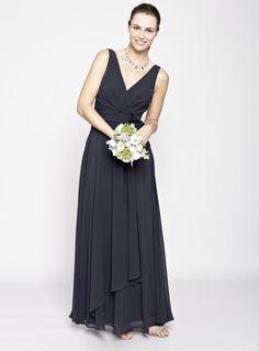 Navy Amber Long Bridesmaid Dress