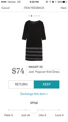 Hailey 23 Joel Popover Knit Dress. I love Stitch Fix! A personalized styling service and it's amazing!! Simply fill out a style profile with sizing and preferences. Then your very own stylist selects 5 pieces to send to you to try out at home. Keep what you love and return what you don't. Only a $20 fee which is also applied to anything you keep. Plus, if you keep all 5 pieces you get 25% off! Free shipping both ways. Schedule your first fix using the link below! #stitchfix @stitchfix…