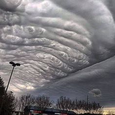 The sky of Alabama was full of wavy undulatus asperatus clouds as a mixture of sleet, snow and rain moved into the region on March 3 Weather Cloud, Wild Weather, Undulatus Asperatus, Nature Pictures, Cool Pictures, Dame Nature, Sky And Clouds, Storm Clouds, Jolie Photo