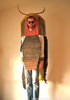 amazing collection of masks and costumes made from cardboard
