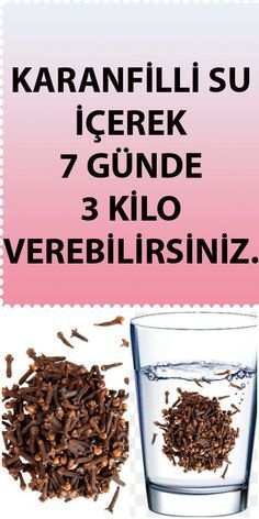 Karanfilli Su İçerek 7 Günde 3 Kilo Vermek İster Misiniz? Health Cleanse, Health Diet, Health And Wellness, Health Fitness, Beauty Recipe, Diet Menu, Natural Herbs, Diet And Nutrition, How To Dry Basil