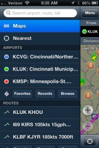 ForeFlight 4.8 hits the app store with a new iPhone menu, background chart updates and more.