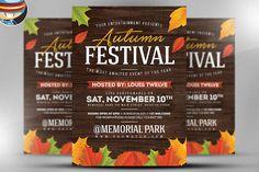 Autumn Festival Flyer Template by FlyerHeroes on @creativemarket