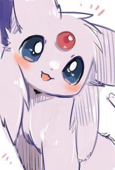 Espeon My Pokemon, Pokemon Stuff, Pokemon Rouge, Pokemon Fan Art, Umbreon Wallpaper, Cute Pokemon Wallpaper, Cute Anime Wallpaper, Pokemon Pictures, Umbreon And Espeon