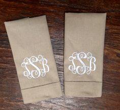 Vintage Tea Towels Monogrammed by AddieBelleBoutique on Etsy, $10.00