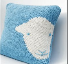 Love this! Ravelry: Herdy Cushion Cover Knit Kit pattern by Janice Anderson